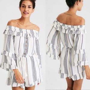 American Eagle Outfitters Romper Off Shoulder Sz M
